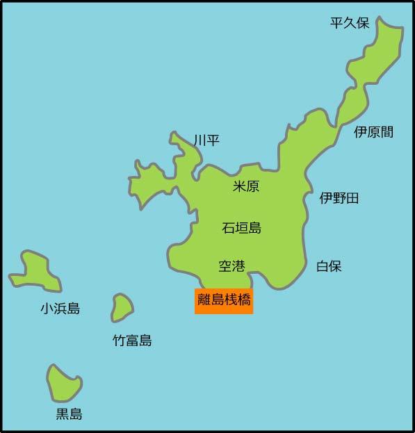 石垣島のシュノーケリングポイントマップ