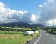 オモト岳に雲ができてます