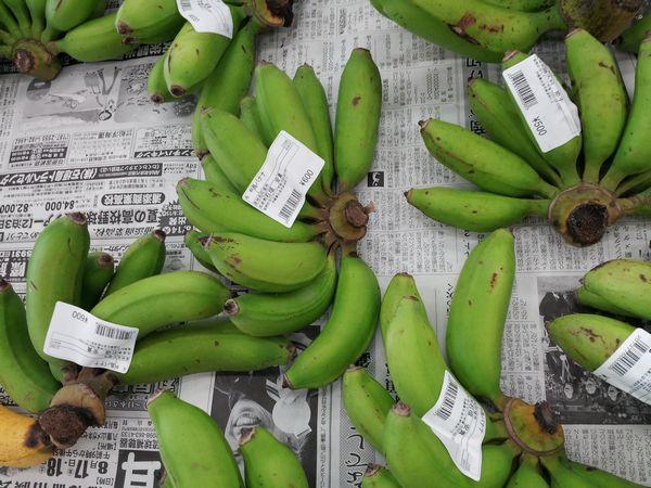 島バナナ。小ぶりです。
