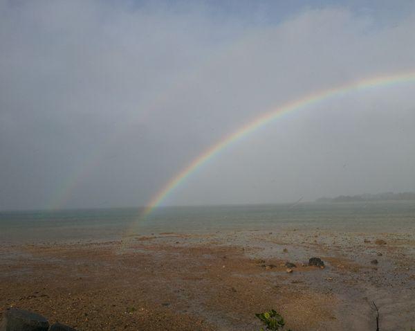 虹の根元には宝物が。。。
