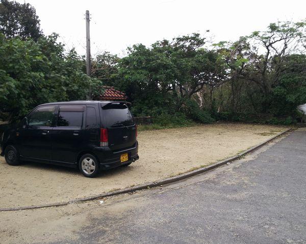 米原海岸の駐車場