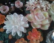 貝殻で作った花