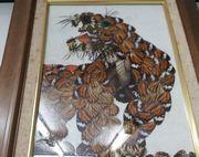 チョウの羽で作ったトラ