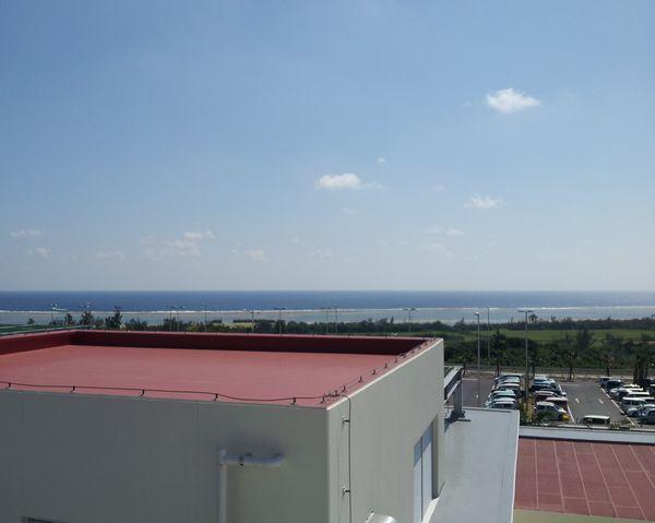 エメラルドグリーンの海も見れます。