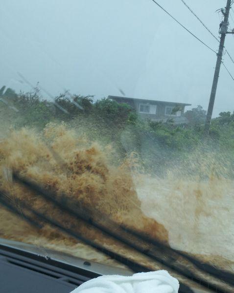 道路が冠水しまくっている!!