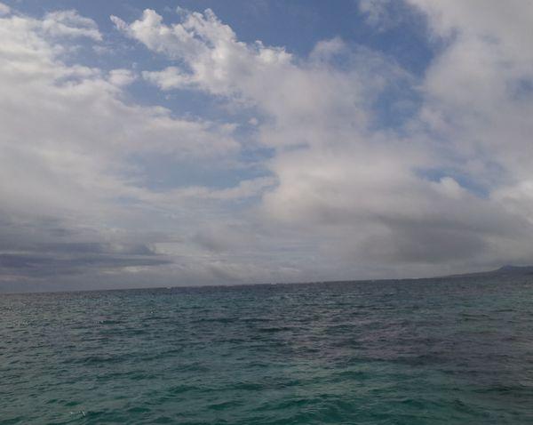 風は強め。でも波は穏やか