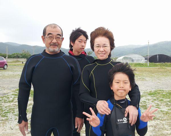 午後からの半日ツアーはT田様ご一家です。