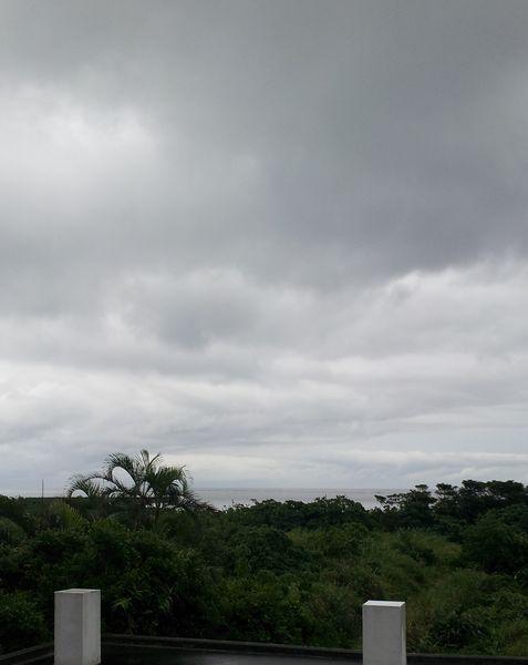 あいにくの曇りというより雨模様