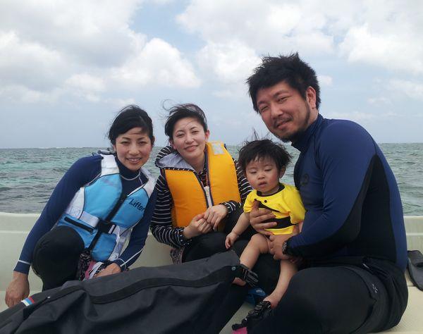K井さんご家族と奥さんの妹さんの4名様です