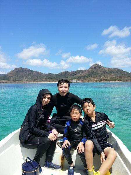 筋金入りの海好きのK斐ご家族。