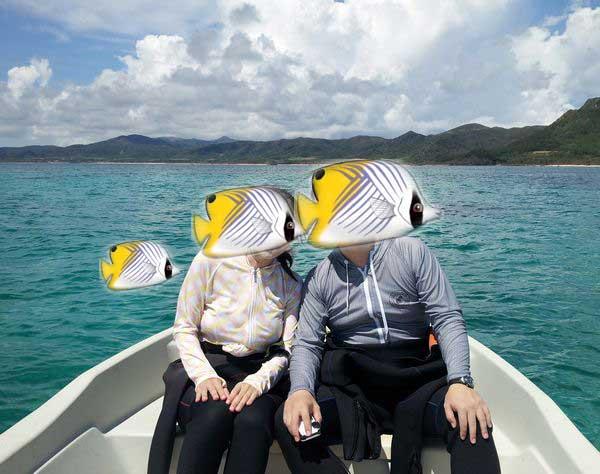 S木さんご夫婦。お魚スタンプはお子様の分も