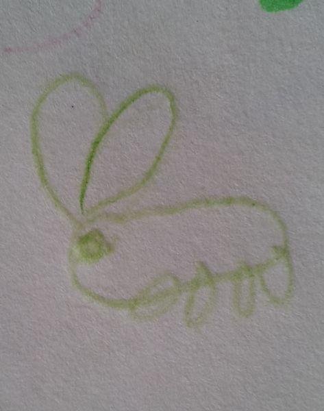前回、うわさになったウサギ画