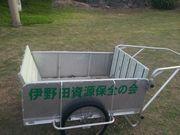 伊野田資源保全の会の台車。手作りです。