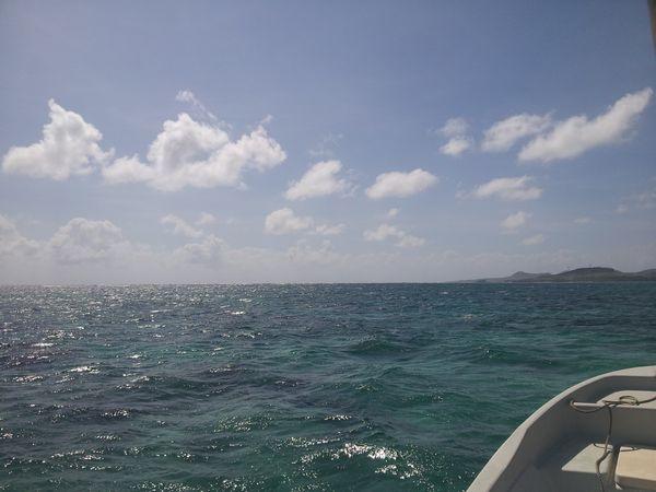 ラグジュアリーな空と海です