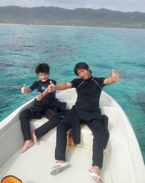 海好きファミリーのM川さんです