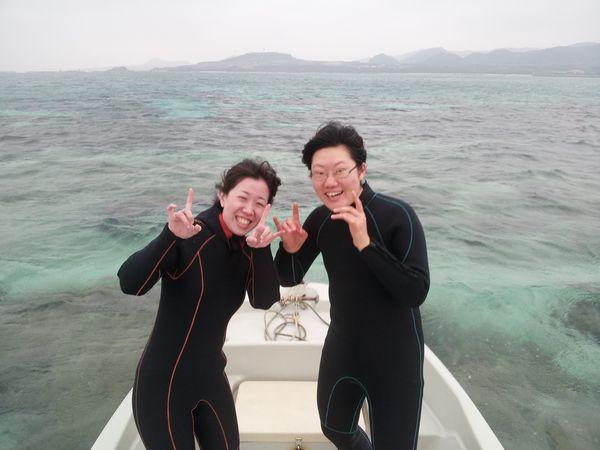 夕方のツアーにご参加のM谷さん、Y田さん。