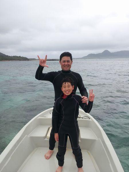 午後のツアーはF田さんご家族です