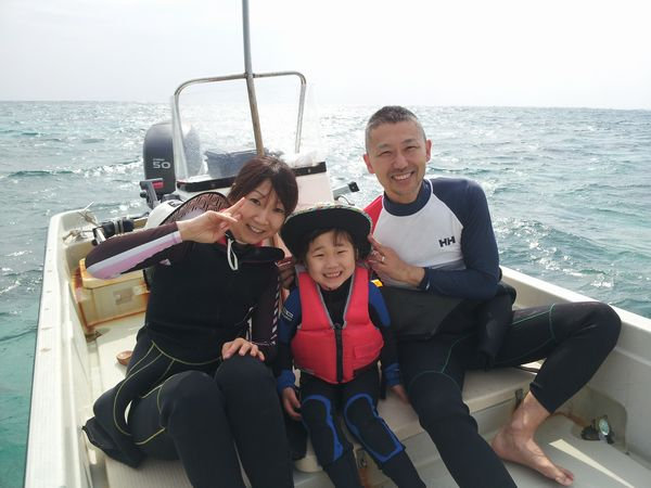 I伏さんご家族です。リコちゃんは5歳です