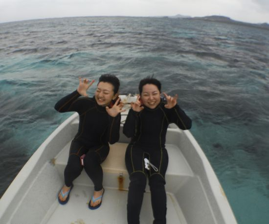 一人旅でお越しのH木さんとS川さんです