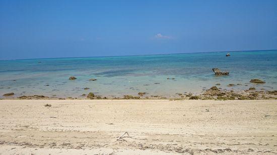 晴れた日は、こんな海なんです