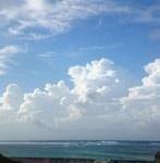 台風15号。最接近前日のお天気です