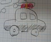 パトカーの絵を描いてみました。