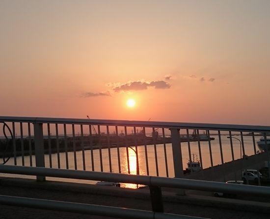 キレイな夕日です。