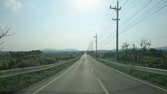 まっすぐな道は、爽快です