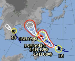 台風三つが狙い撃ちです。