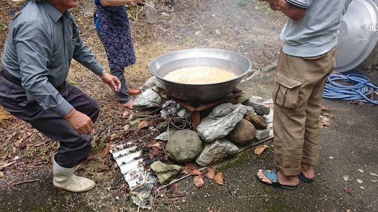 ジューシーご飯の炊き出し訓練