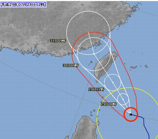 台風9号、思ったより、石垣島を避けました