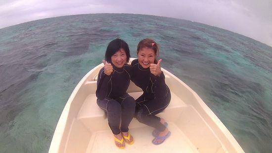 リピーターK島さんとお姉さんです