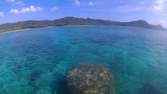 透明度復活で穏やかな海