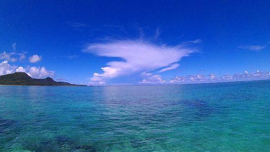 夏休み最終日は、快晴の石垣島です。