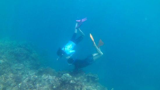 2人そろって、水中世界です