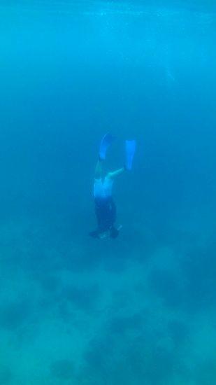 水深10mまでぐんぐん潜ります