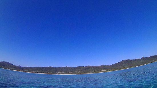 石垣島は雲一つない空です