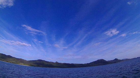 秋空広がる良い天気の石垣島です