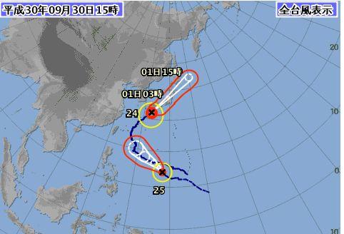 台風25号も石垣島に。。。
