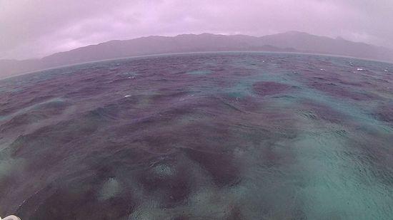 石垣島、初潜りは、曇りの天気です