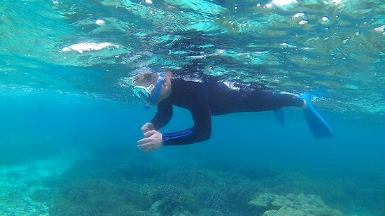 S木さんも余裕の泳ぎです。