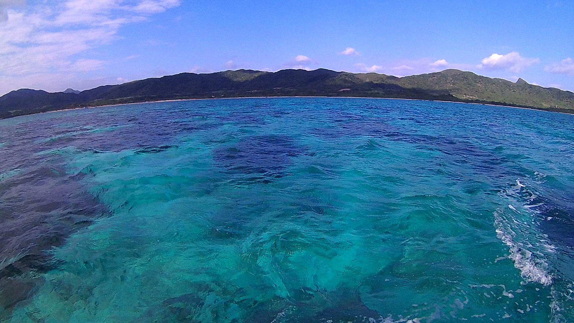 シュノーケルポイント、きれいな海です