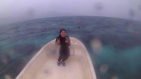 初めての石垣島でシュノーケルのM山さん