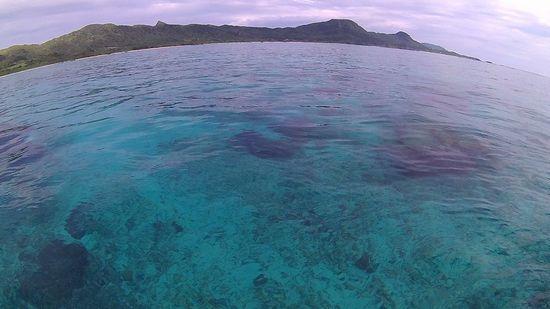 まるでプールのような穏やかな海です