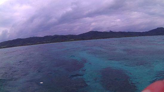 曇りの天気の石垣島です