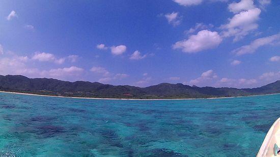 天気は快晴の石垣島です