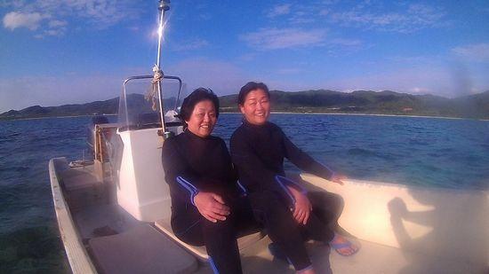 リベンジシュノーケルで石垣島旅行!リピーターS田さんとW辺さんです。