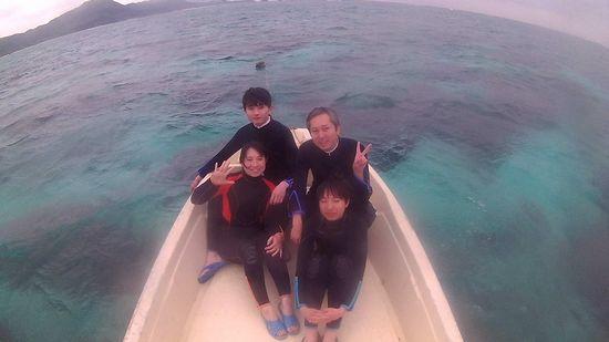 初石垣島のS谷さんご家族です
