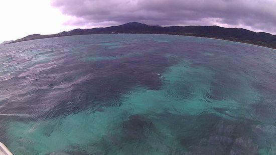 曇りの天気の石垣島です。