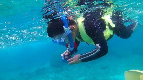水中カメラで撮影です